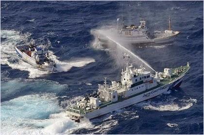 เรือชายฝั่งของญี่ปุ่นปะทะเรือประมงไต้หวัน