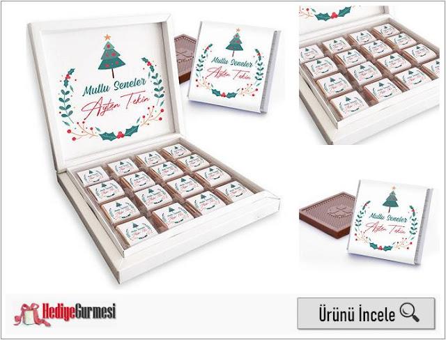 Yeni Yıla Özel Mesajlı Kutu Çikolata