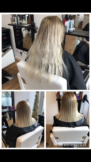 My hairdressing disaster story - before and after
