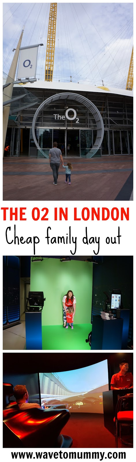 A fun (and cheap) family day out in London - at The O2. A great place to spend a rainy day in London is The O2. There are several cheap and free activities for children, such as film studios and virtual car driving, and several inexpensive restaurants to choose from. Check my top tips on what to do on a rainy day in London, or when you want to have a cheap family day out in London, UK.