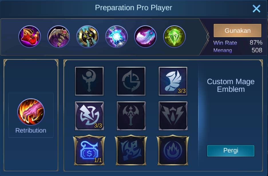 build item harith mobile legends (ML)