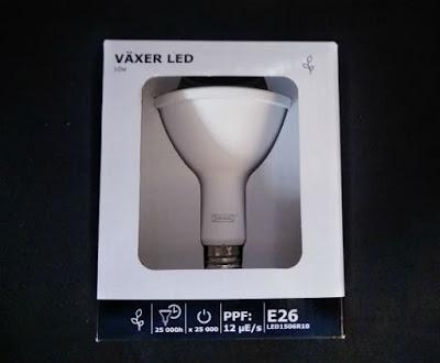 IKEAの植物育成用LED電球VÄXER(ヴェクセル)パッケージ