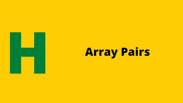 HackerRank Array Pairs problem solution