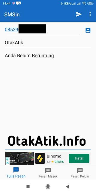 Isi Nomor telepon, Nama Pengirim dan Pesan teks. di sms gratis