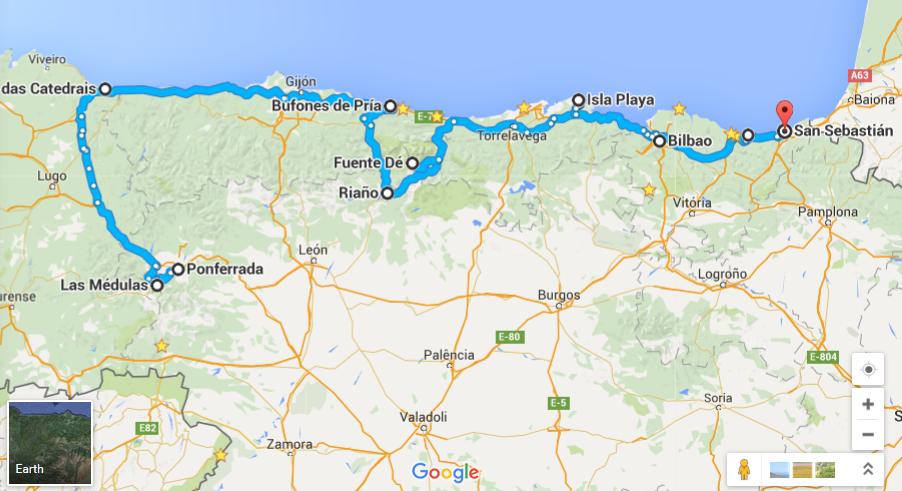 mapa do norte de espanha Turismo sem Clichê: 10 atrações do norte da Espanha, roteiro mapa do norte de espanha
