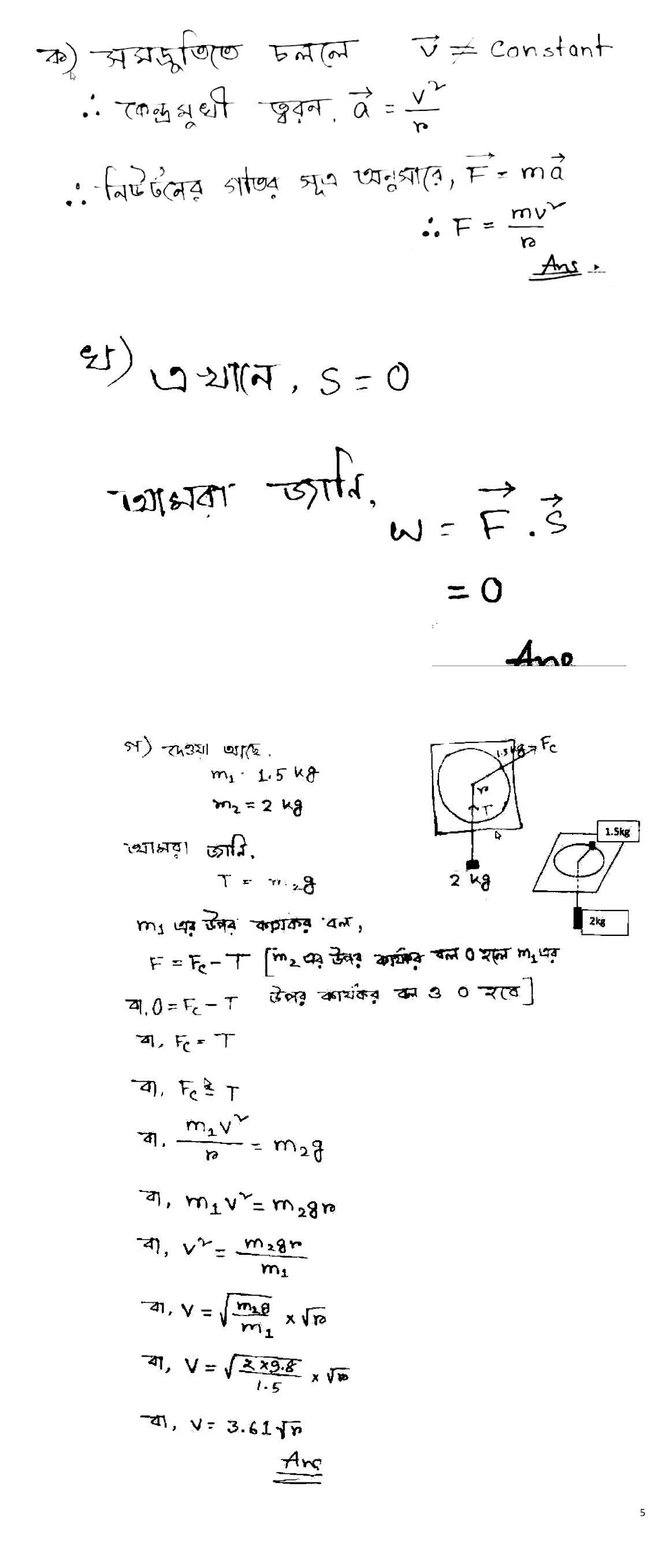 HSC Physics Assignment Answer 2021