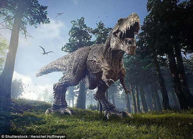 The fierce, carnivorous dinosaur Tyrannosaurus rex
