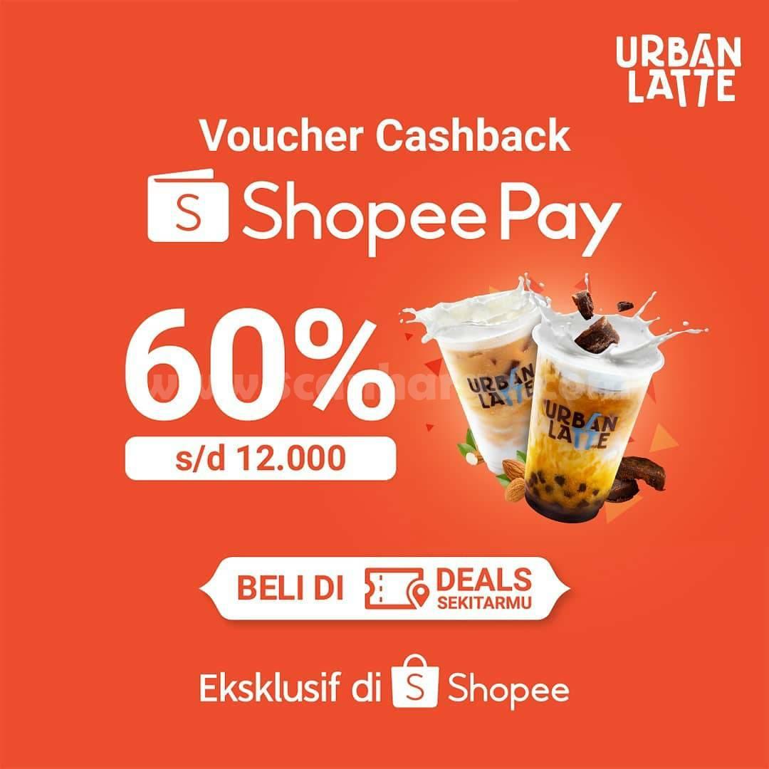 URBAN LATTE Promo Voucher Cashback ShopeePay Deals 60%
