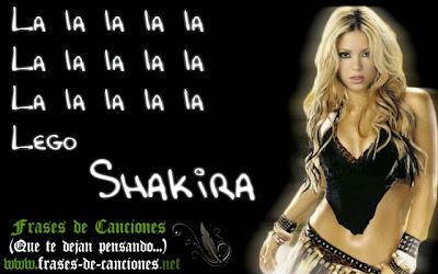 Frase de la canción : Shakira - La la la