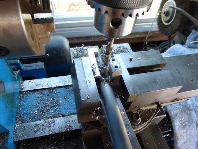 drilling rivet hole
