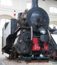 Una delle prime locomotive a vapore conservate a Pietrarsa