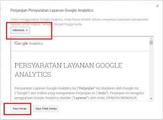 Persyaratan Layanan Google Analytics