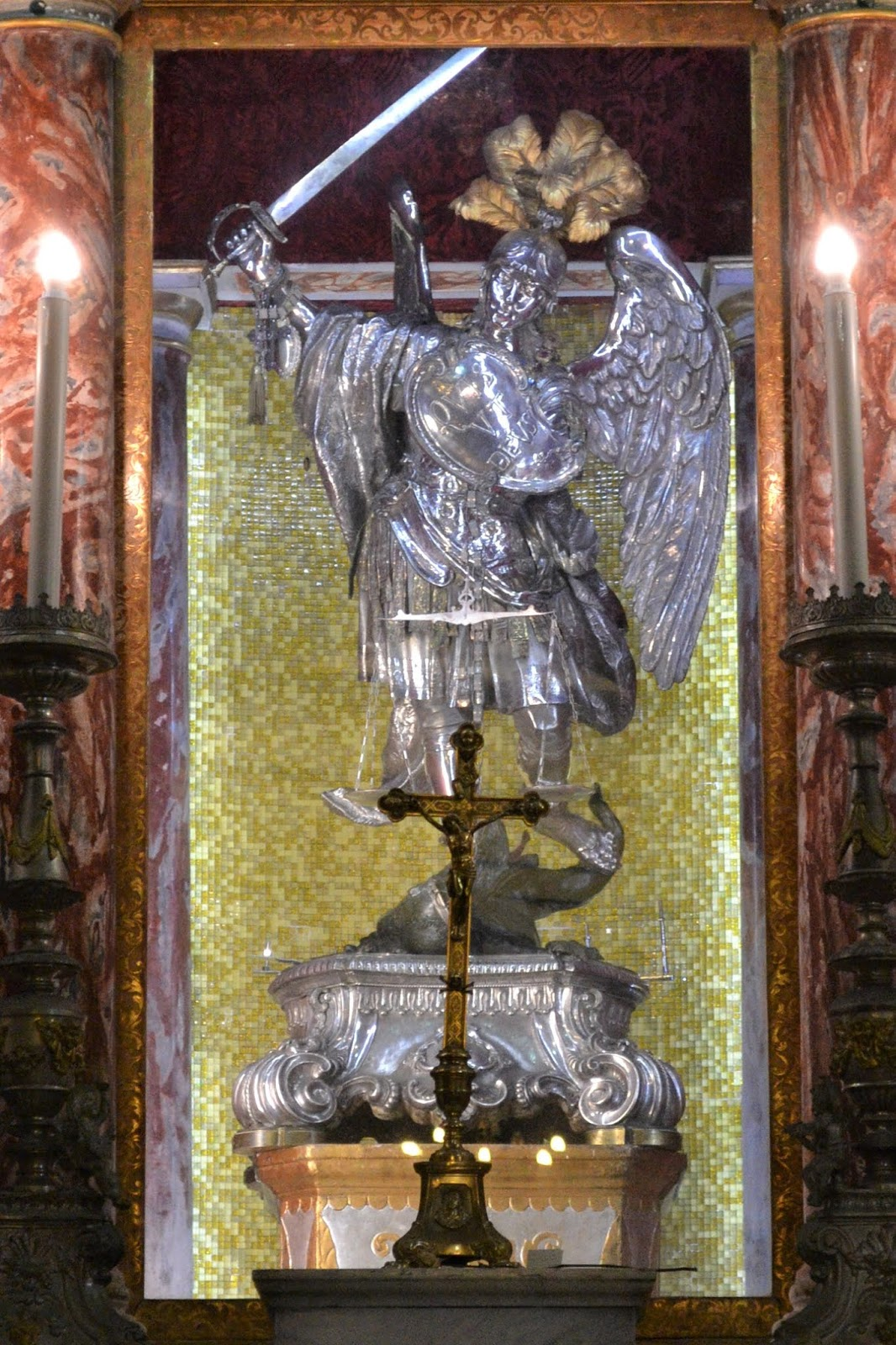 Statua argento San Michele Arcangelo
