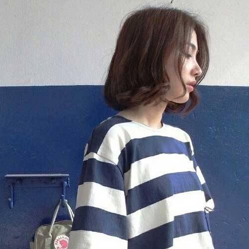 Model rambut bob ikal korea