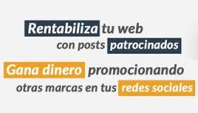 patrocinadores en redes sociales