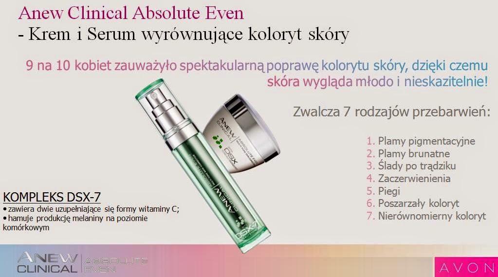 Avon Anew Clinical Absolute Even – Kuracja zwalczająca przebarwienia
