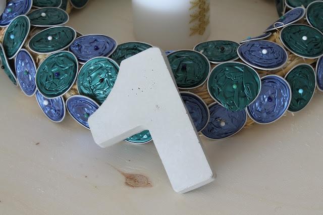 DIY Upcycling Adventskranz aus Kaffeekapseln Jules kleines Freudenhaus