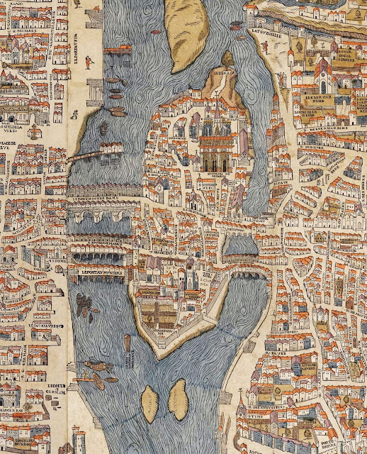 Île de la Cité dans le plan de Truschet et Hoyaux , 1550