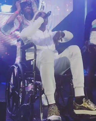 Trendy Or Trashy? Patoranking Steps Out On Stage With Wheelchair