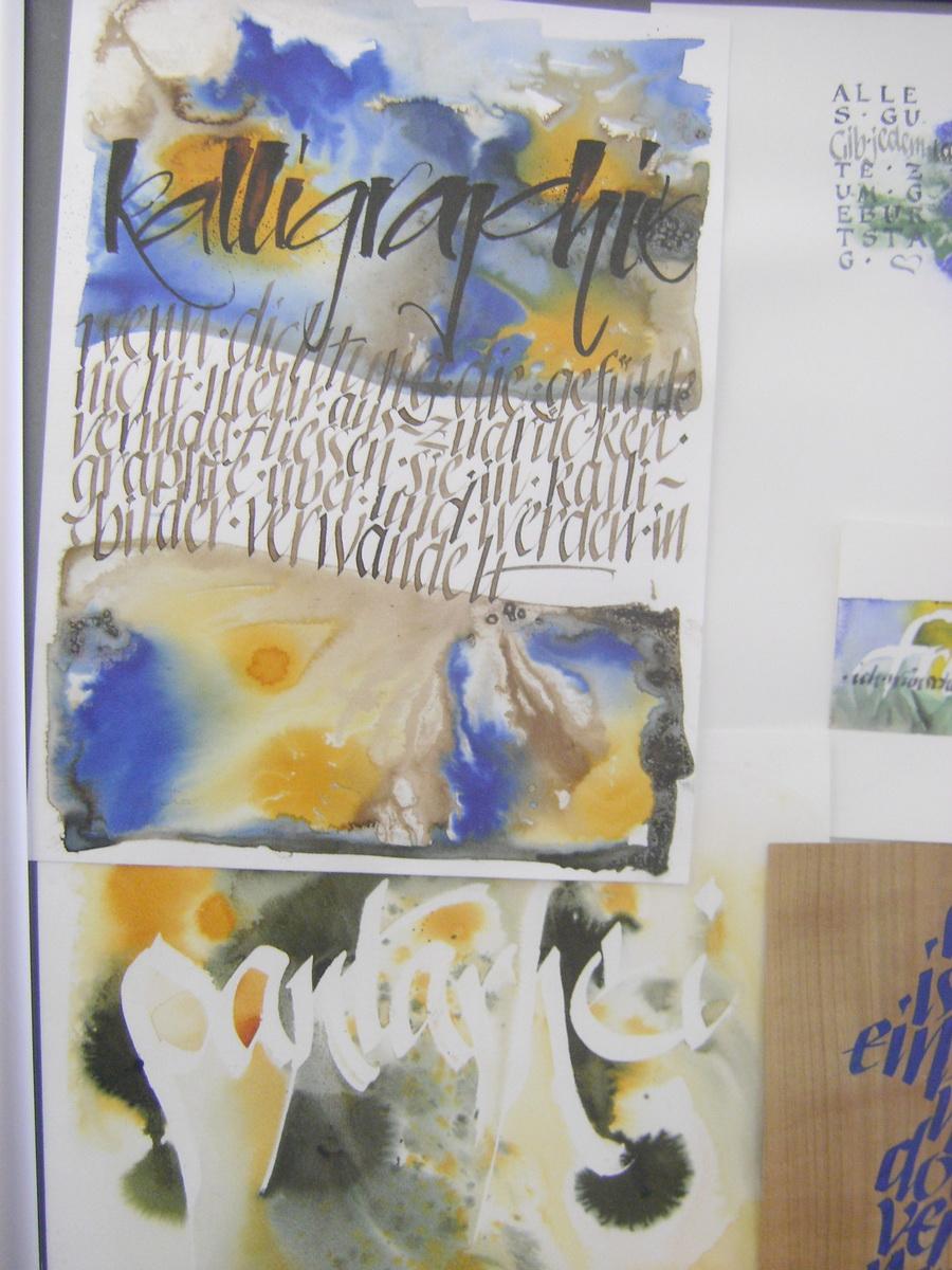 Meine Quilts und Ich: Schrift - Kalligraphie