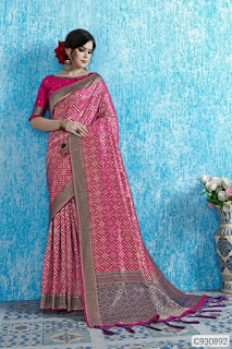 Pretty Art Silk Woven with Jhalar Sarees