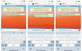 Cara Merubah Warna Tulisan di WhatsApp