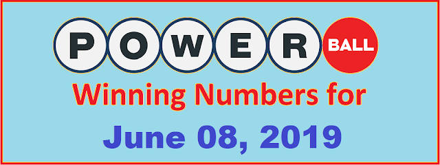 PowerBall Winning Numbers for Saturday, June 08, 2019