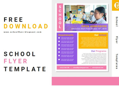 Free School Admission Flyer Template Word Docs File