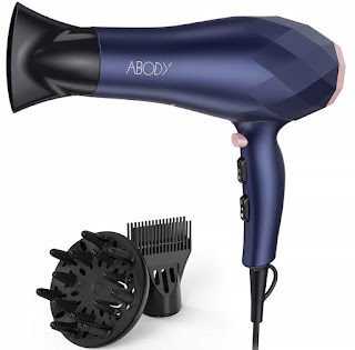 Abody 1875W Negative Ion Blow Dryer, Quick Dry Light Weight Low Noise Hair Dryers with Diffuser  (Best Hair Dryer, Best Blow Drye)