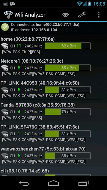 Wifi Analyzer - screenshot 4