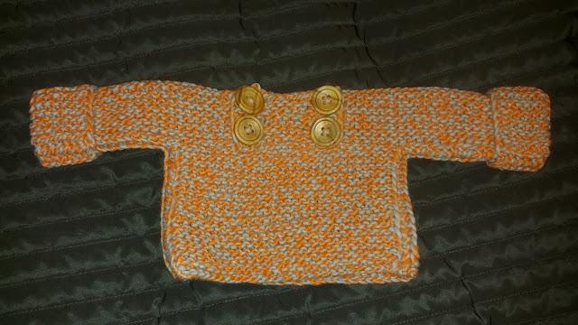 Sweter dla niemowlaka w skandynawskim stylu