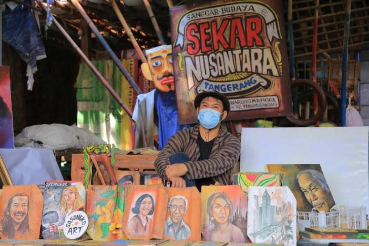 Sasongko, Seorang Seniman Kota Tangerang Yang Karyanya Terjual Hingga Eropa