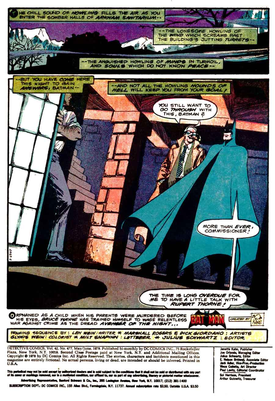 Detective Comics v1 #471 dc comic book page art by Marshall Rogers