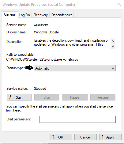Error Code 0x8024002e in windows 10 update