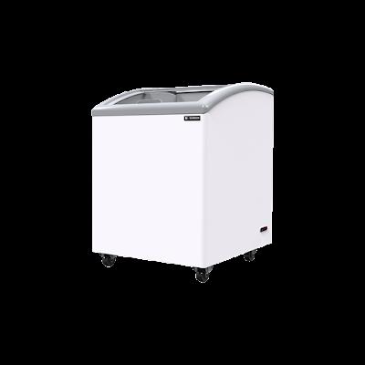 Tủ đông kính cong Sanden intercool SNC-0145 dung tích 170 Lít