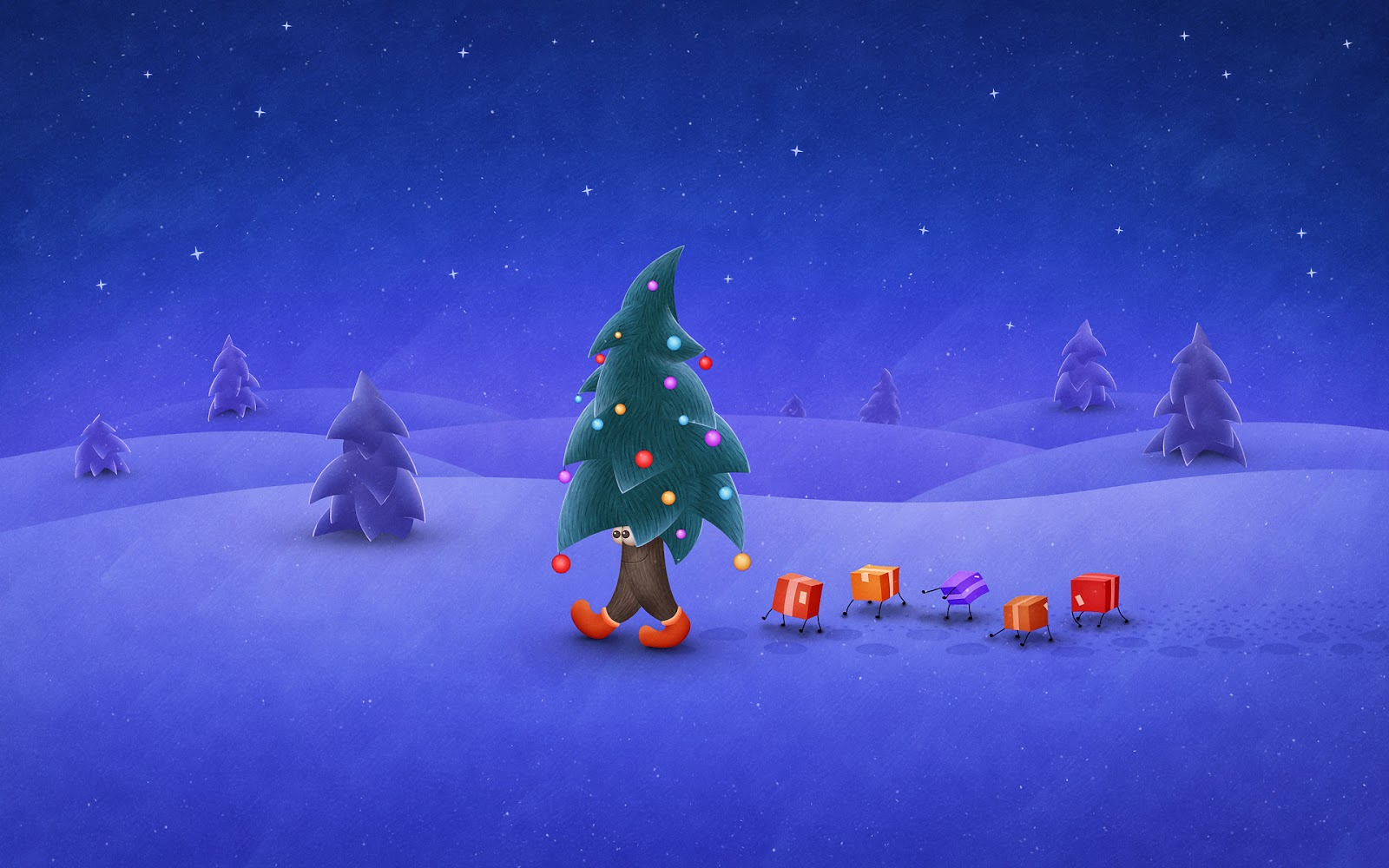 Fondos Navidad Animados: Imagenes Hilandy: Fondo De Pantalla Navidad Animada