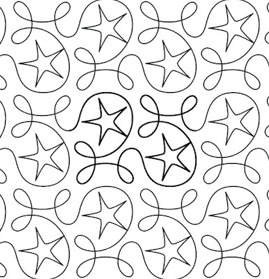 'Ginger Stars' digital quilt pattern by Apricot Moon