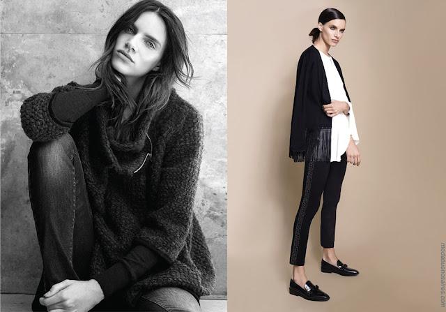 Sweaters tejidos y jeans otoño invierno 2018. Moda mujer invierno 2018.