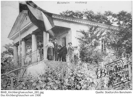 Bensheim in alten Bildern - Das Kirchberghäuschen um 1900