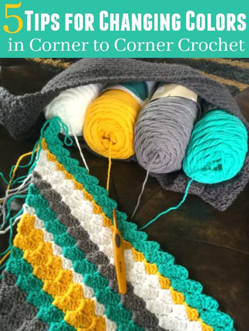 Changing Colors in C2C Crochet - Tutorial
