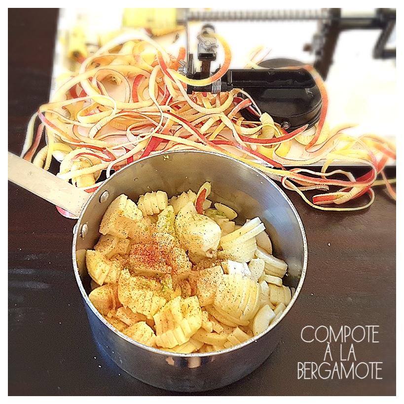 saveurs d 39 ici cook enjoy compote de pommes la cannelle et bergamote. Black Bedroom Furniture Sets. Home Design Ideas