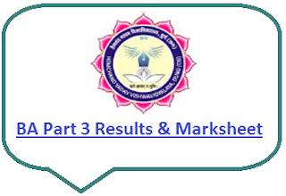 Durg University BA Part 3 Result 2021