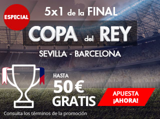 suertia promocion final de Copa del Rey Barcelona vs Sevilla 21 abril