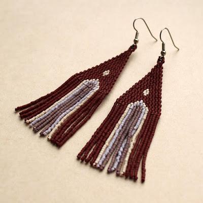 купить этнические украшения ручной работы серьги из бисера