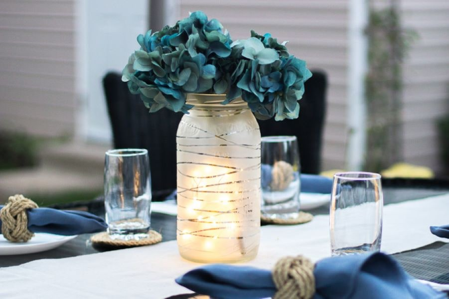 These beautiful do it yourself centerpieces are an elegant centerpiece for any occasion