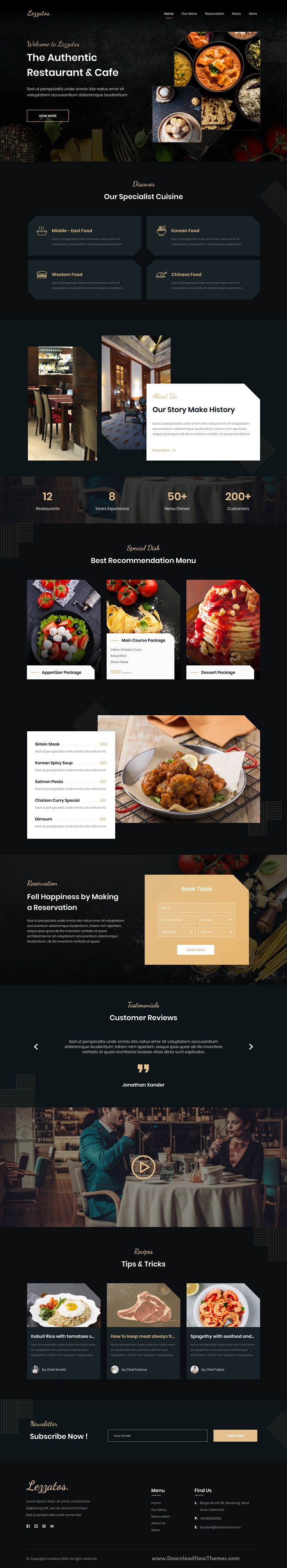 Restaurant and Cafe Template