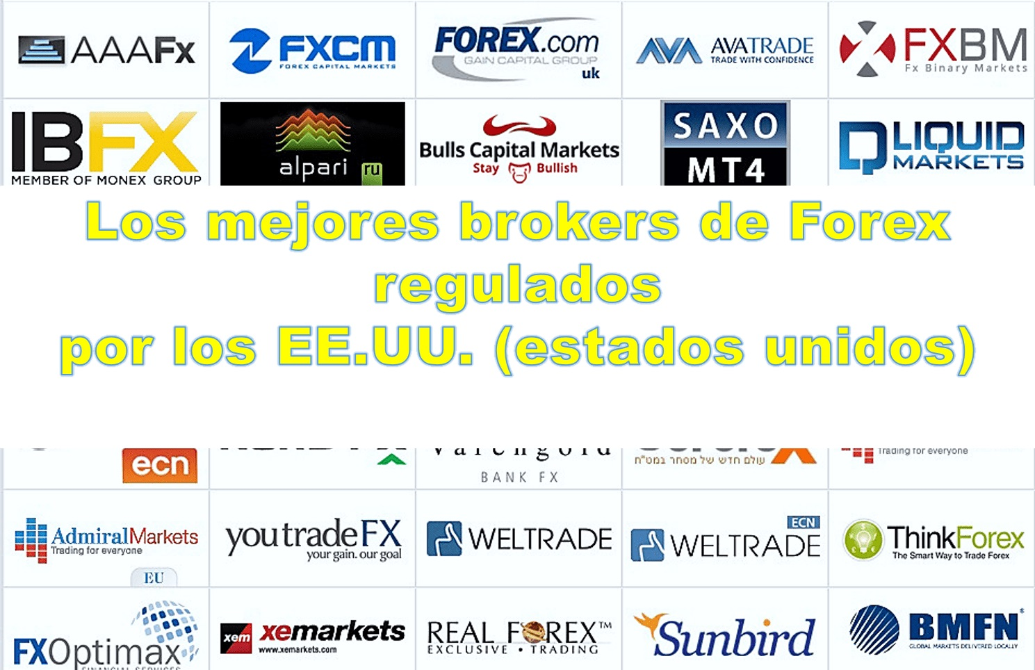 listă de brokeri forex regulados