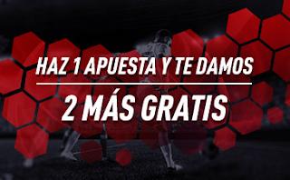 sportium Promoción especial: Haz 1 apuesta y te damos 2 más gratis 12-14 marzo