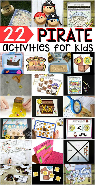 22 Free pirate themed activities perfect for preschool and kindergarten