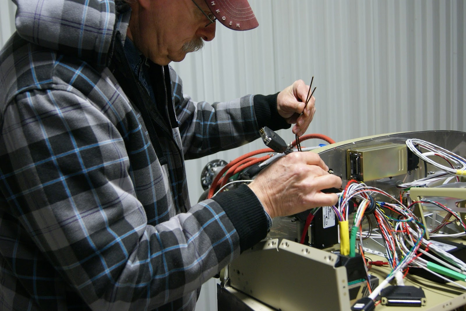 Dog Aviation Johns Rv 12 Blog Installed More Wiring Harnesses Wire Harness Grommet Fishing The Wh Egt Through Firewall